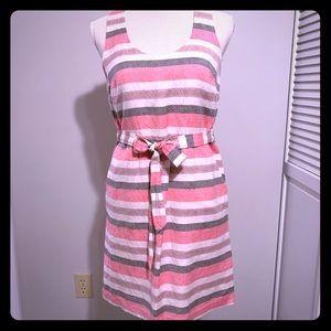 LOFT size 0 striped pocket summer dress